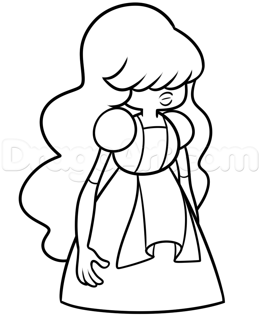 How to Draw Sapphire from Steven Universe Step by Step Cartoon ...