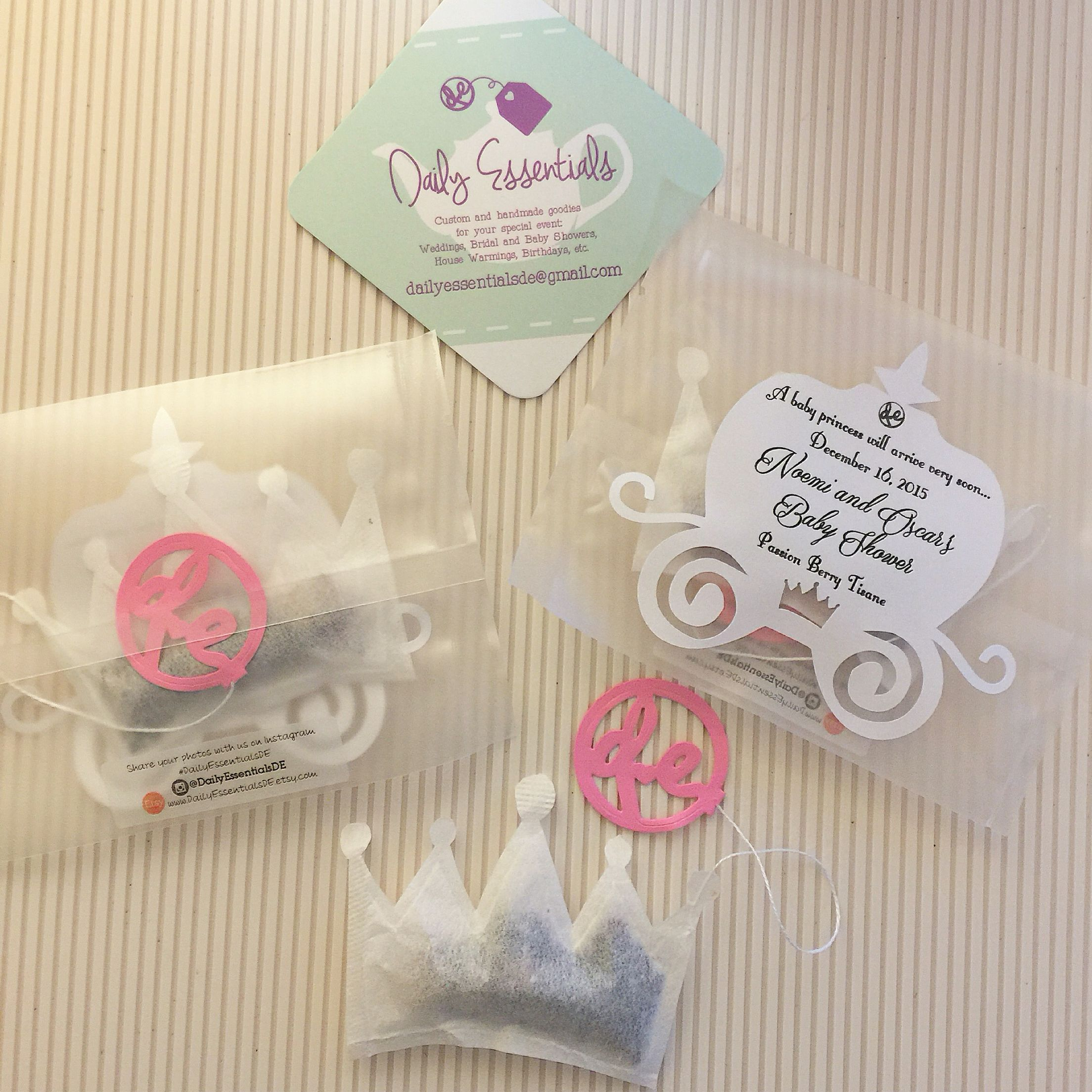 Special #Princess #Teabags For A Soon To Be Princess @Dailyessentialsde