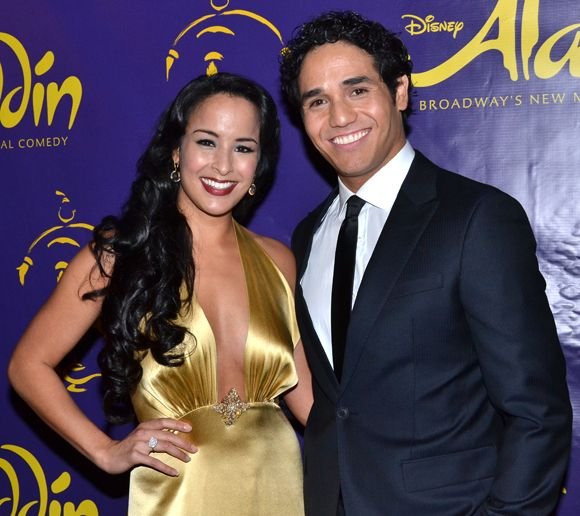 Courtney Reed and Adam Jacobs play Princess Jasmine and Aladdin in Disney's new Broadway production of Aladdin.