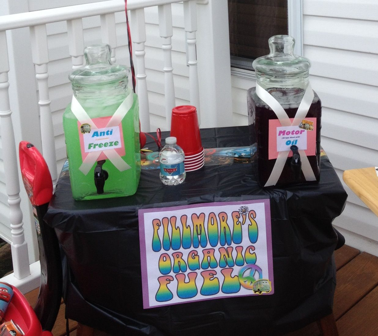 Drink Ideas For Disney Cars Birthday Party