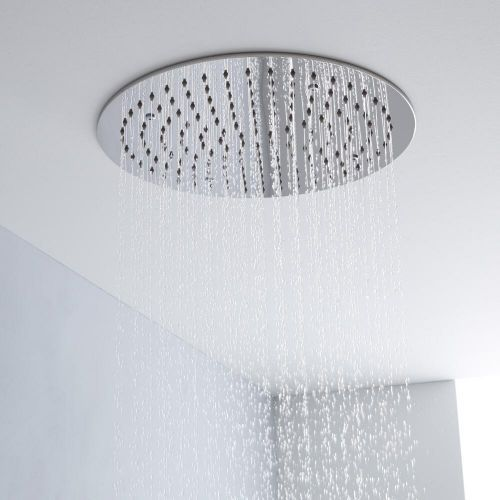 Add Sleek Contemporary Style To Your Bathroom With This Milano Shower Head Fixed Shower Head Shower Heads Ceiling Tile