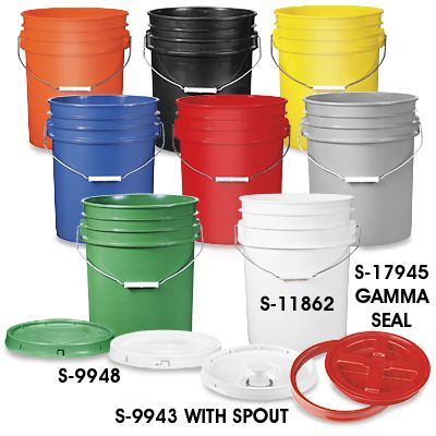 5 Gallon Bucket Plastic Bucket In Stock Food Grade Buckets Plastic Pail Emergency Preparedness Food Storage