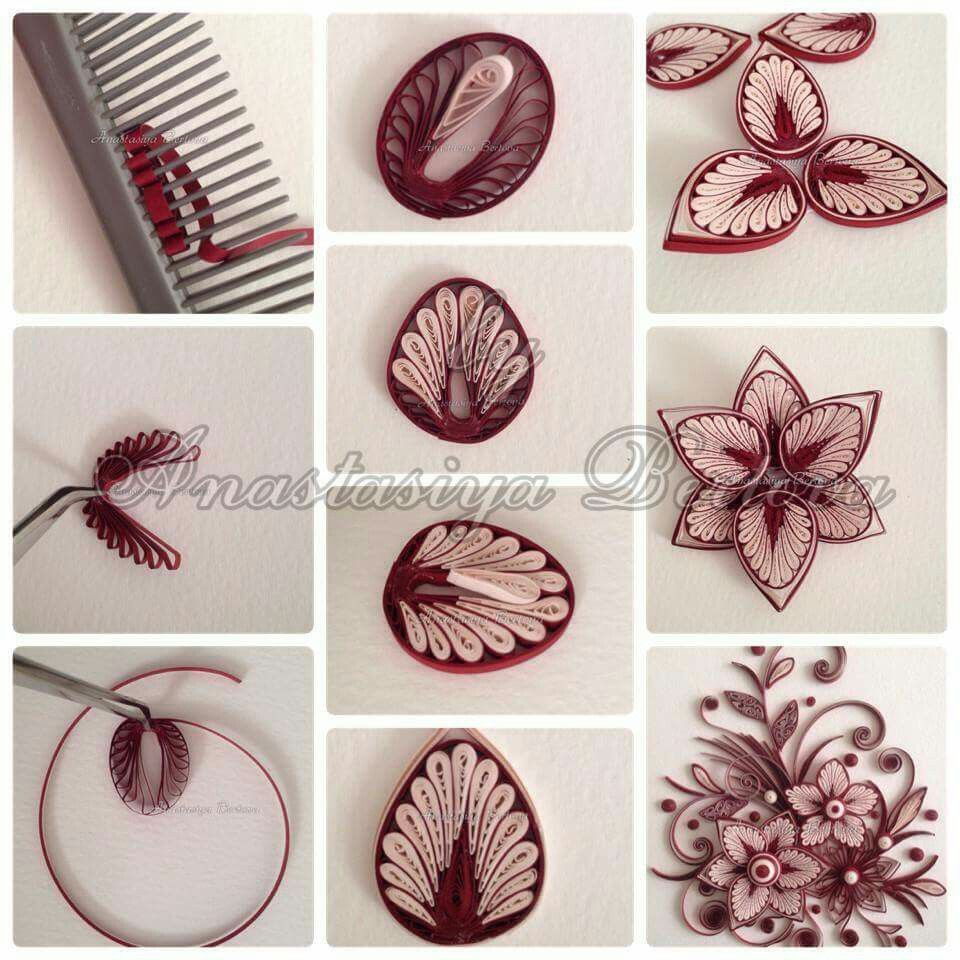 By anastasiya bertova bi uteria quilling pinterest for Easy quilling designs step by step