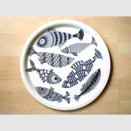 Blue Fish from the Alabasta collection of Scandinavian birch wood trays by British textile designer Asta Barrington.  sc 1 st  Pinterest & blue fish circular tray coastal home uk | Art that I love ...