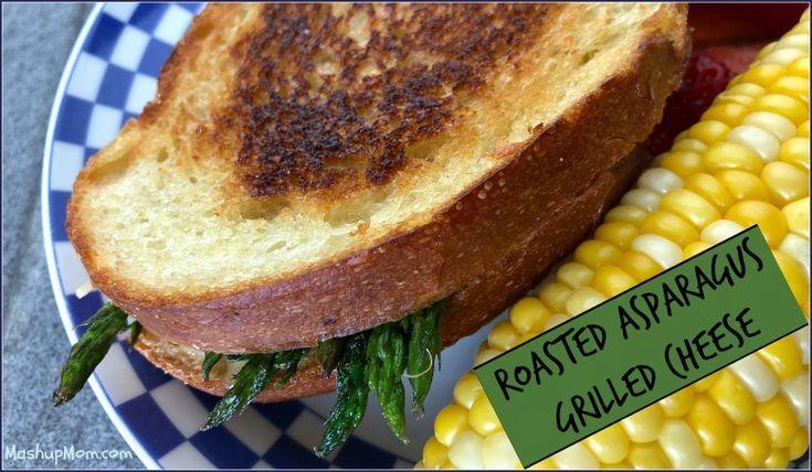 Gebratener Spargel gegrillte Käse-Sandwiche -