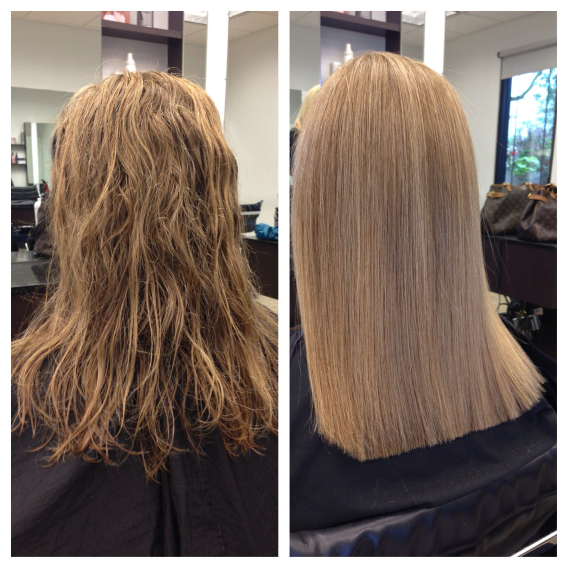 Before And After Of Keratin Treatment Hair By Jayma Permed Hairstyles Keratin Treatment Perm