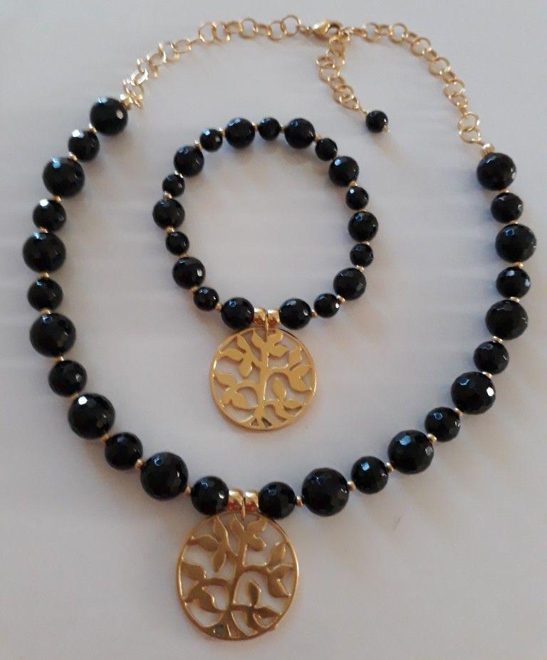 916232e27492 Collar y pulsera de Creaciones Little Flower. Bisutería fina 100% artesanal.  Collares Para