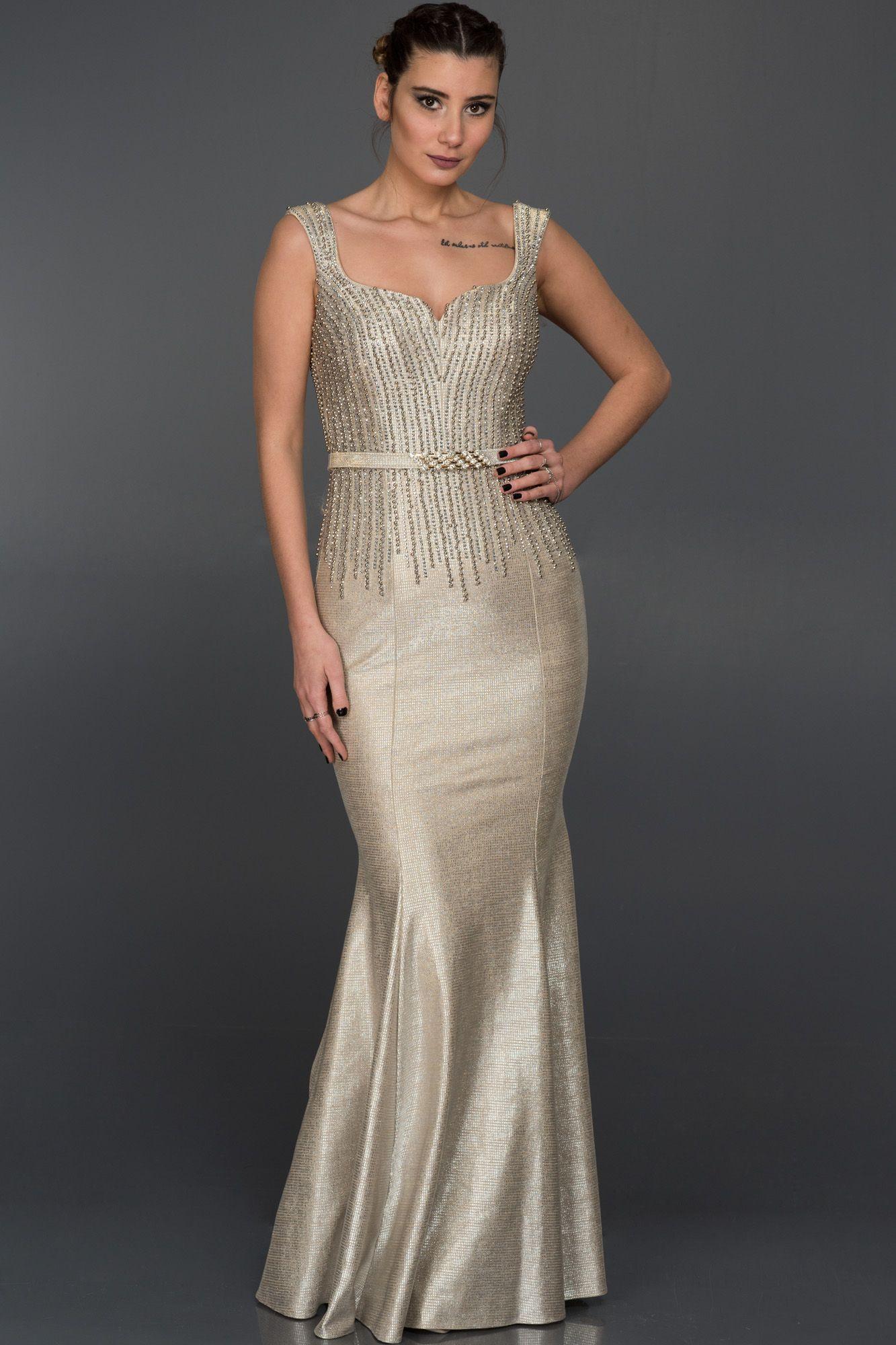 Vizon Tasli Uzun Balik Abiye Elbise F4211 Elbise The Dress Elbise Modelleri