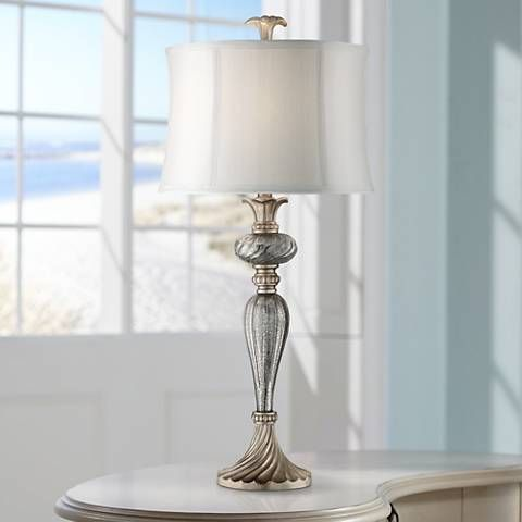 Alyson mercury glass table lamp style 7c728