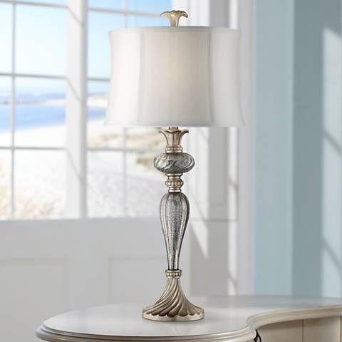 Alyson mercury glass table lamp style 7c728