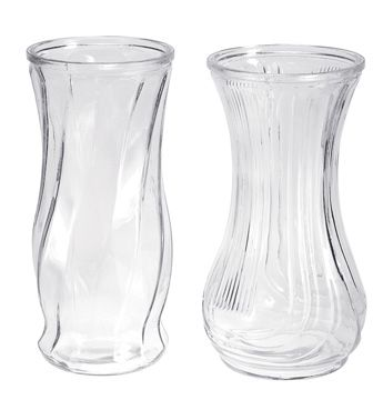 Two Assorted Clear Glass Vases Glass Containers Pinterest