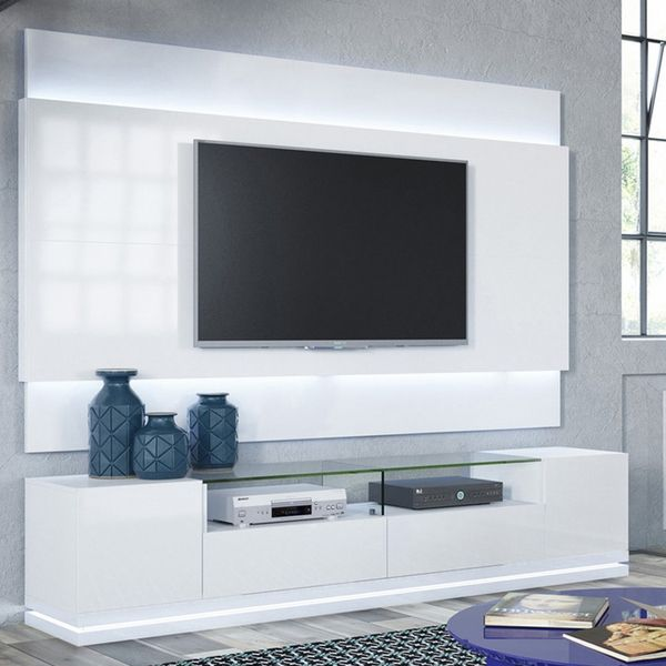 Vanderbilt Tv Stand And Lincoln 22 Floating Wall Tv Panel With Led