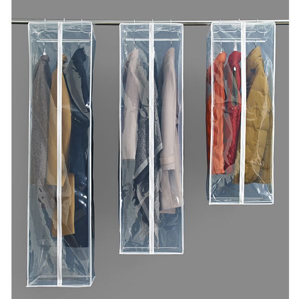 For Storing Cleaned Jackets And Show Outfits. The Container Store U003e PEVA  Hanging Storage Bags. Organization ...