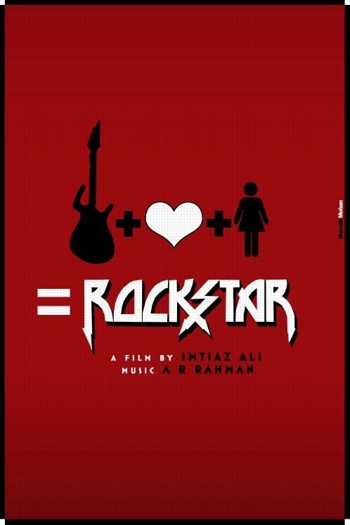 Rockstar 2011 Imtiaz Ali A. R. Rahman... Minimal Bollywood Movie Posters