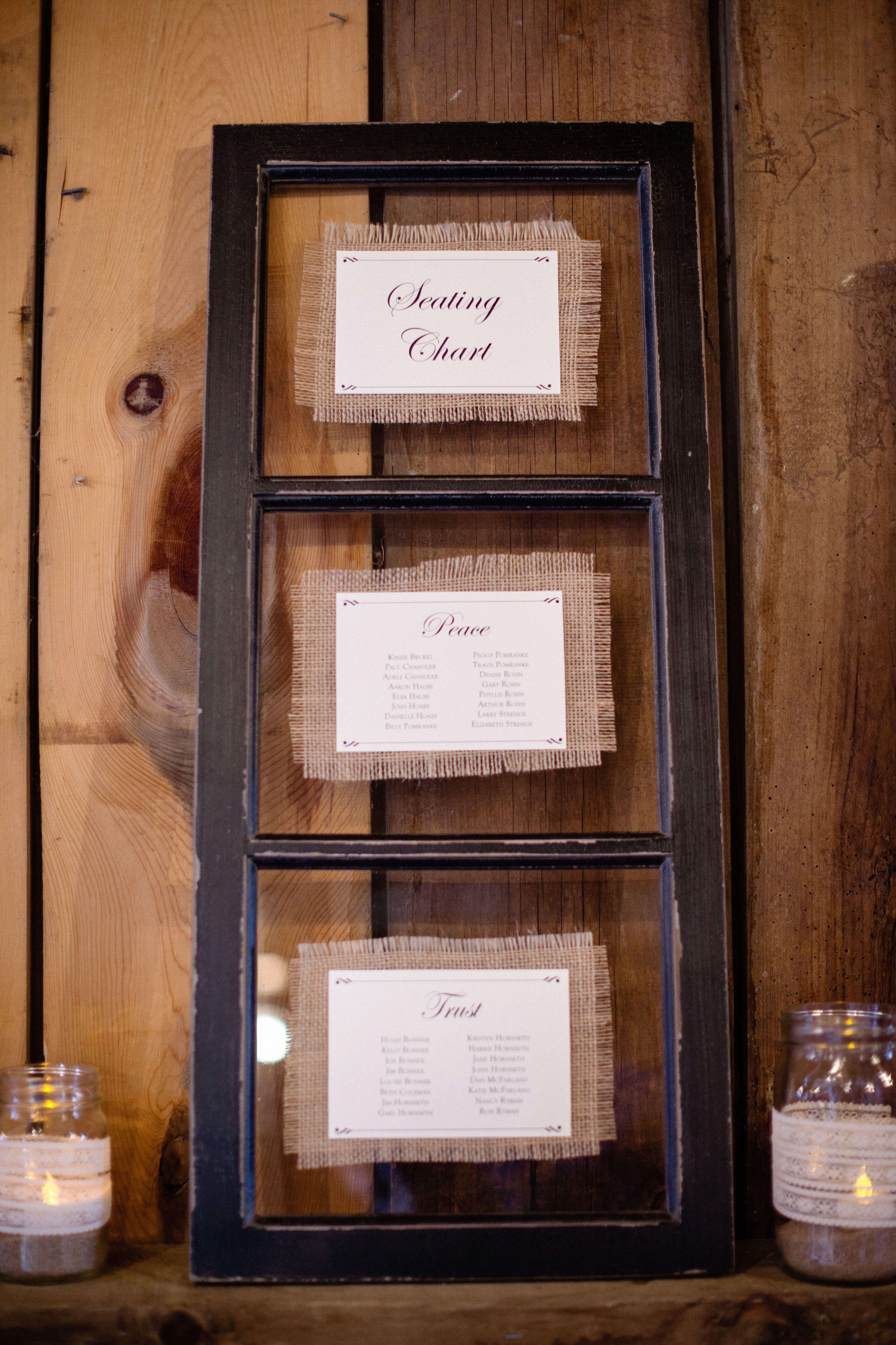 Window pane ideas  window pane seating chart  wedding seating charts u table numbers