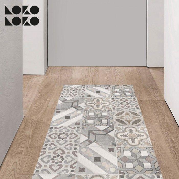 Mosaico de baldosas hidr ulicas 5 vinilo para suelos for Suelo vinilico mosaico