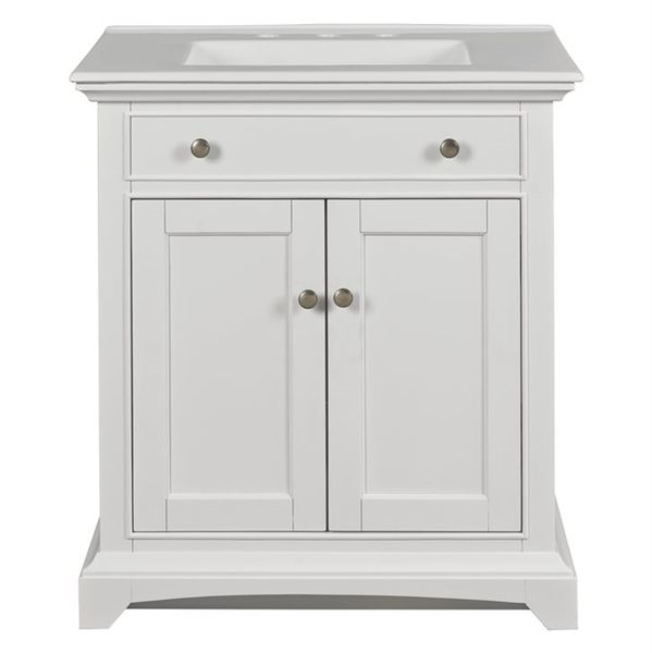 Shop Style Selections 30 Inch Freestanding Single Sink Style Bathroom Vanity  With Vitreous China Top, White At Loweu0027s Canada. Find Our Selection Of  Bathroom ...