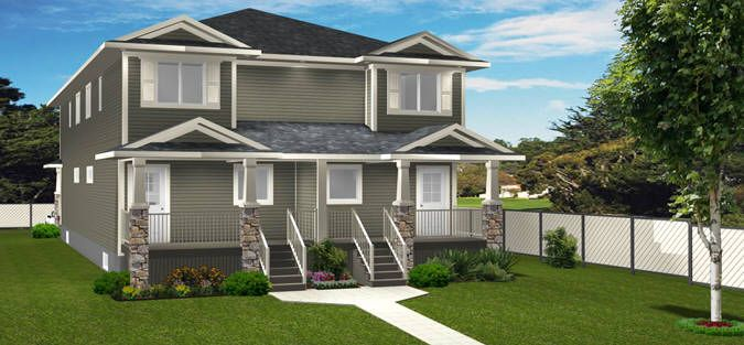 Plan 2017753 Modern Fourplex For Narrow Lot By Edesignsplans Ca This Design Has A Narrower Width And Smaller Square Footage Making It More Economical To