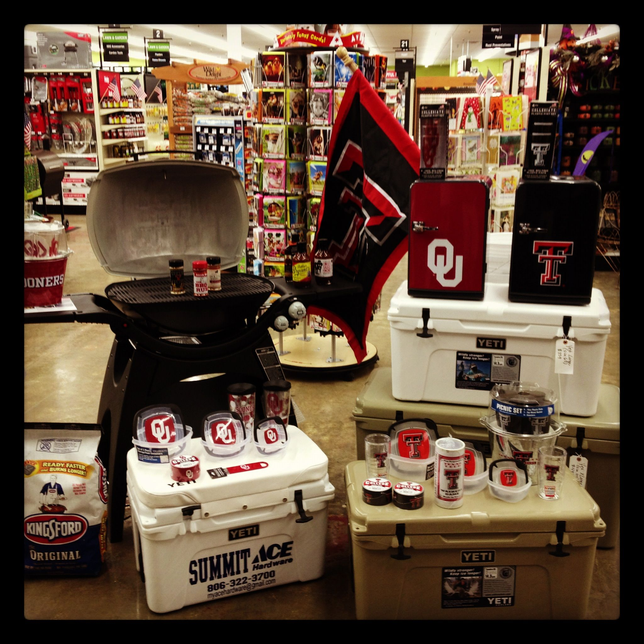 Collegiate Gear! And Yeti Coolers! Ace hardware, Yeti