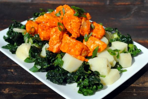 Buffalo Chicken Idaho Potato Salad Recipe can be made dozens of different ways.  Gluten-Free and Dairy-Free www.thewholegang.org