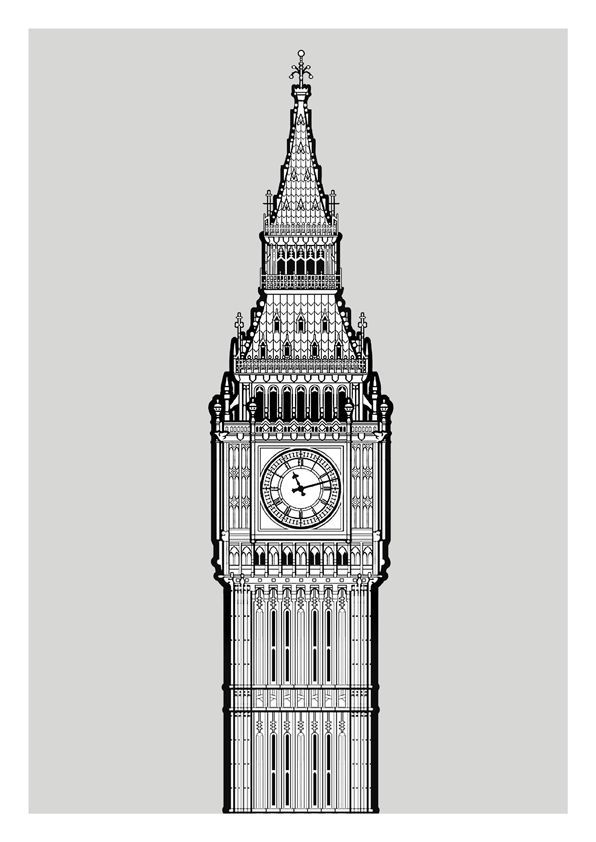 Image Result For Big Ben Drawing
