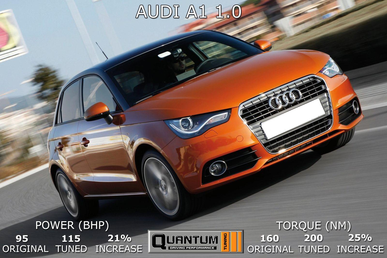 Audi A1 1 0 Tuned By Quantum Tuning Original 95 Bhp 160 Nm