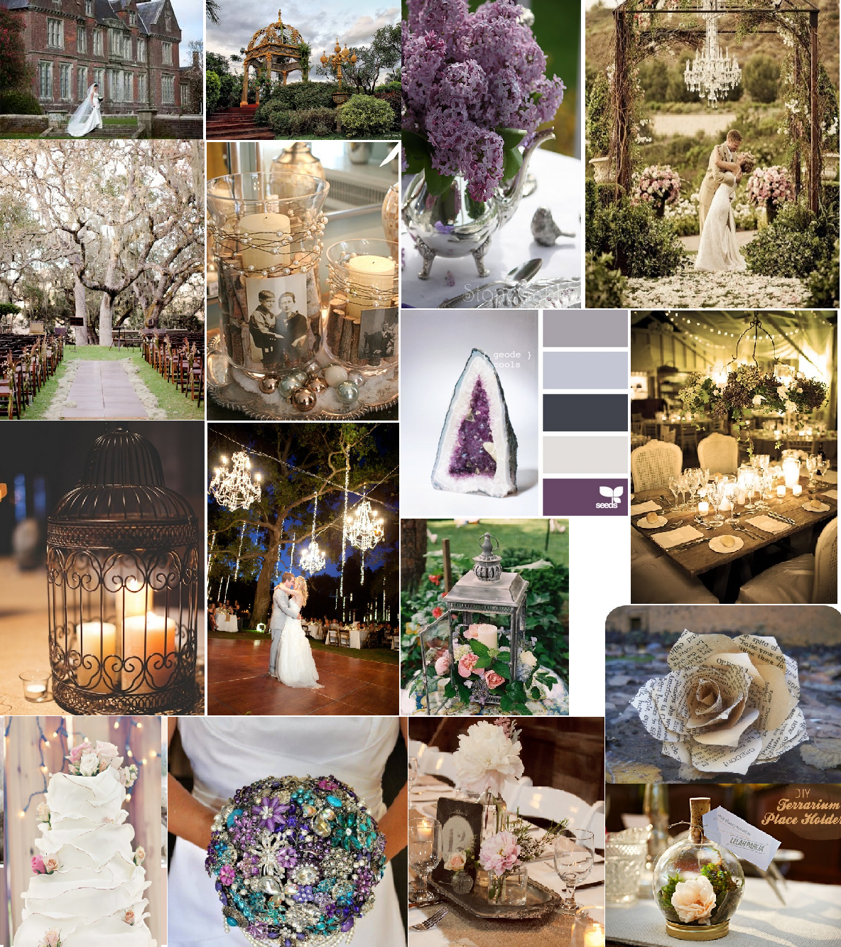 Wedding Board I Put Together Using Images From Pinterest Trying To
