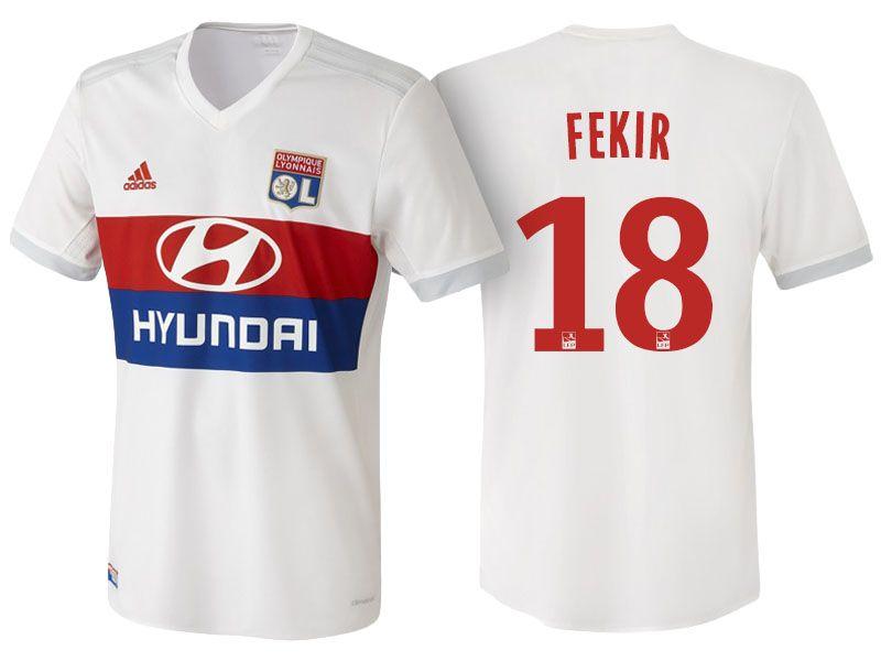 d578220b1d5 Olympique Lyonnais nabil fekir 17-18 Home jersey