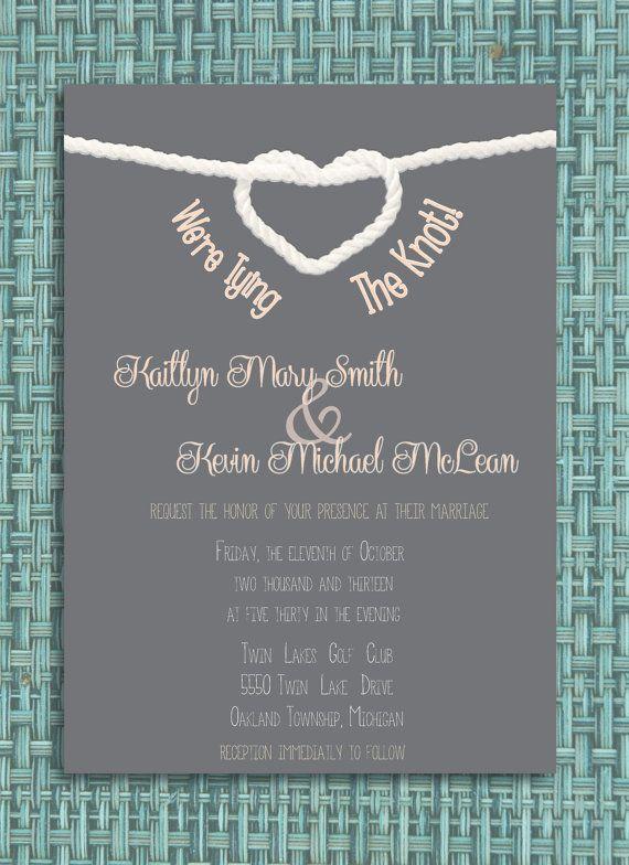 Tying The Knot Wedding Invitation Diy Printable Invitation Etsy Wedding Invitations Diy Wedding Invitations Wedding Planner Binder