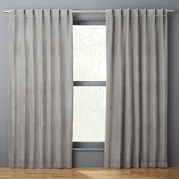 Velvet Graphite Curtain Panel 48 X84 Reviews Curtains