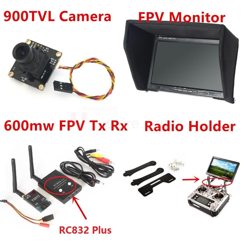 Car dashboard accessories toys   החדש Fpv קיט קומבו TVL מערכת מצלמה  Ghz  mw CH RC