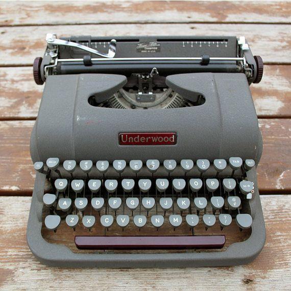 $44 Vintage Underwoord Typewriter Manual Champion by ItsStillLife