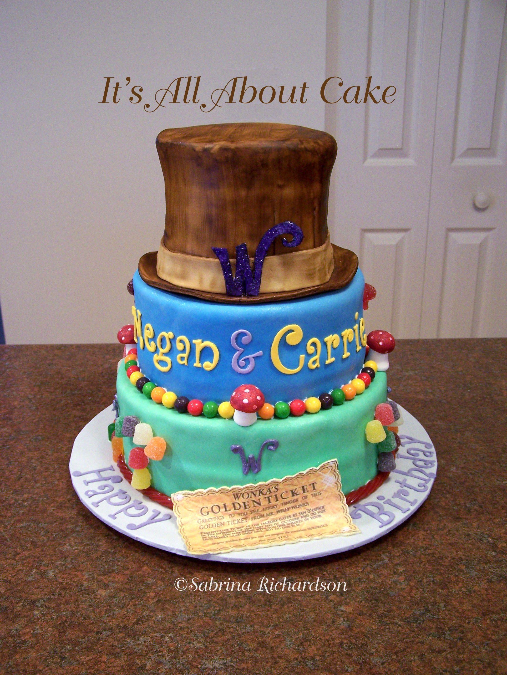 Willy Wonka Cake Willy Wonka Movie Pinterest Willy Wonka