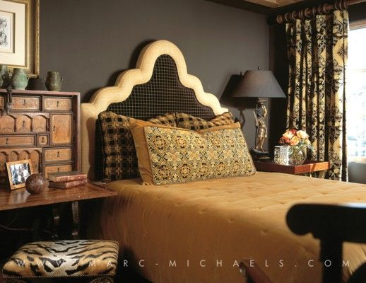 Black Alpine Style BedroomLuxury Interior Design Firm In Aspen Colorado