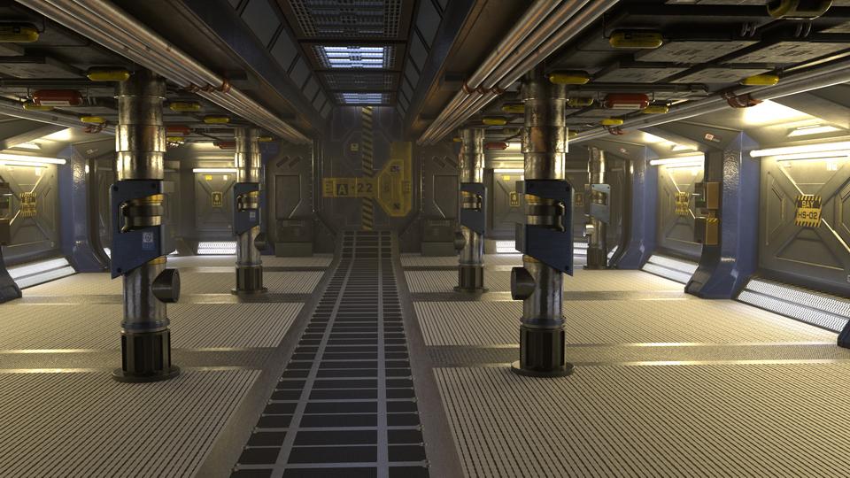 Sci-fi scene lighting and rendering in Maya (Arnold 5) timelapse