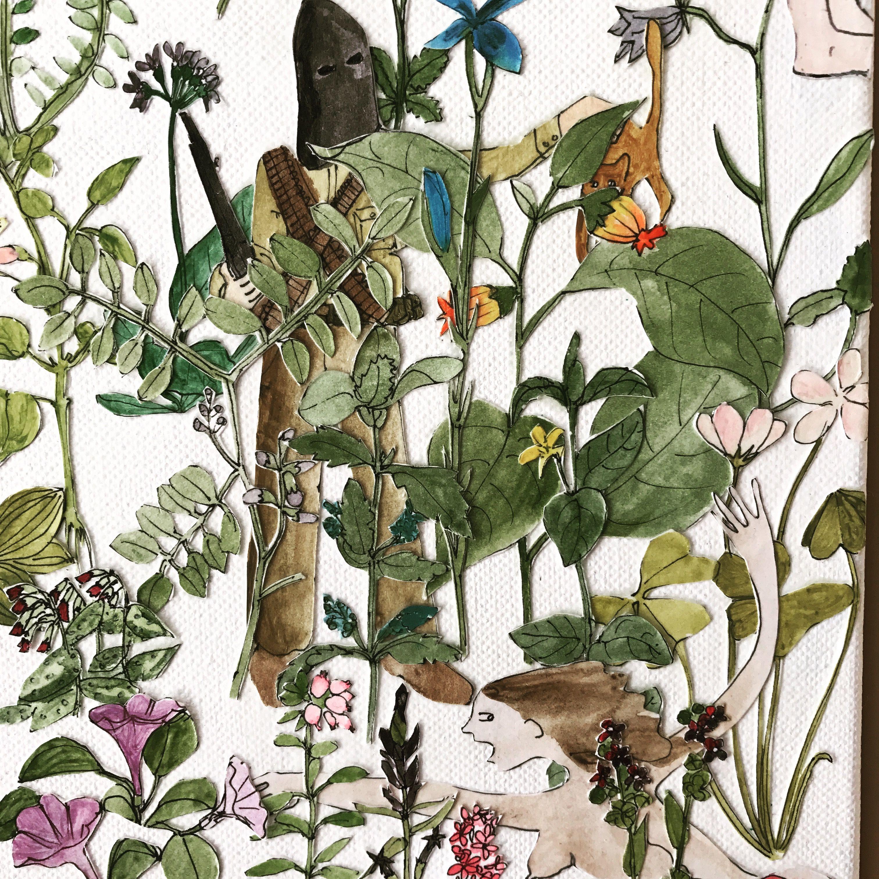 Detail 'in the garden' by Anna Surie www.annasurie.com www.nlxl.com