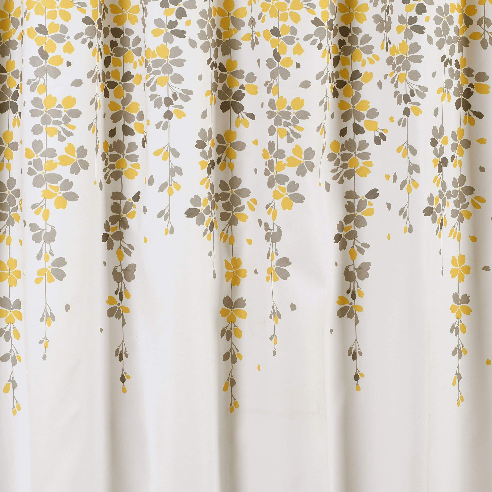 Lush Decor Weeping Flower Shower Curtain Fabric Floral Vine Print