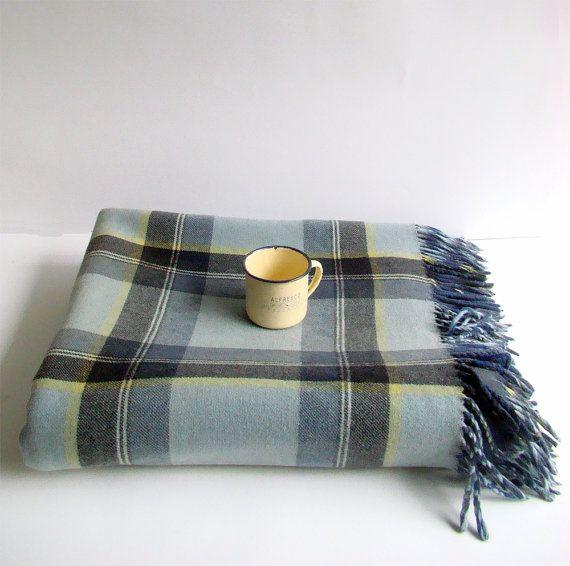 Pure Wool Picnic Rug Tartan Travel