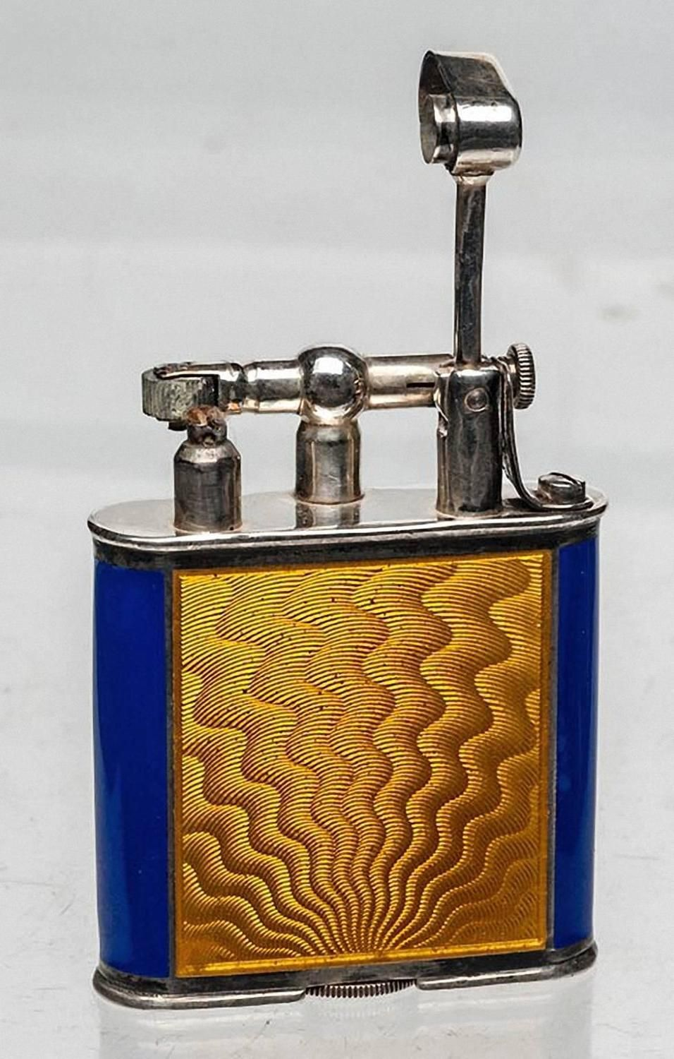 sterling and enamel dunhill