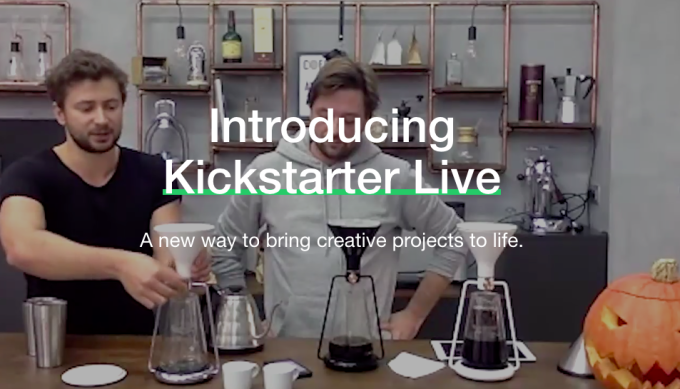 Kickstarter launches a livestreaming feature