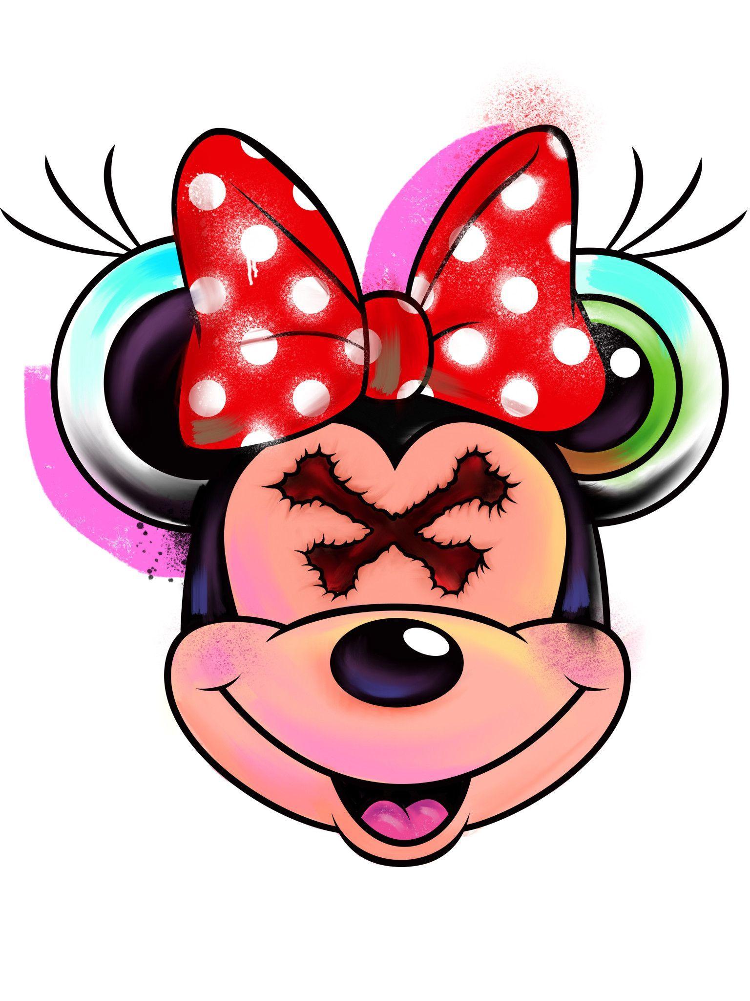 Trippy Minnie Print