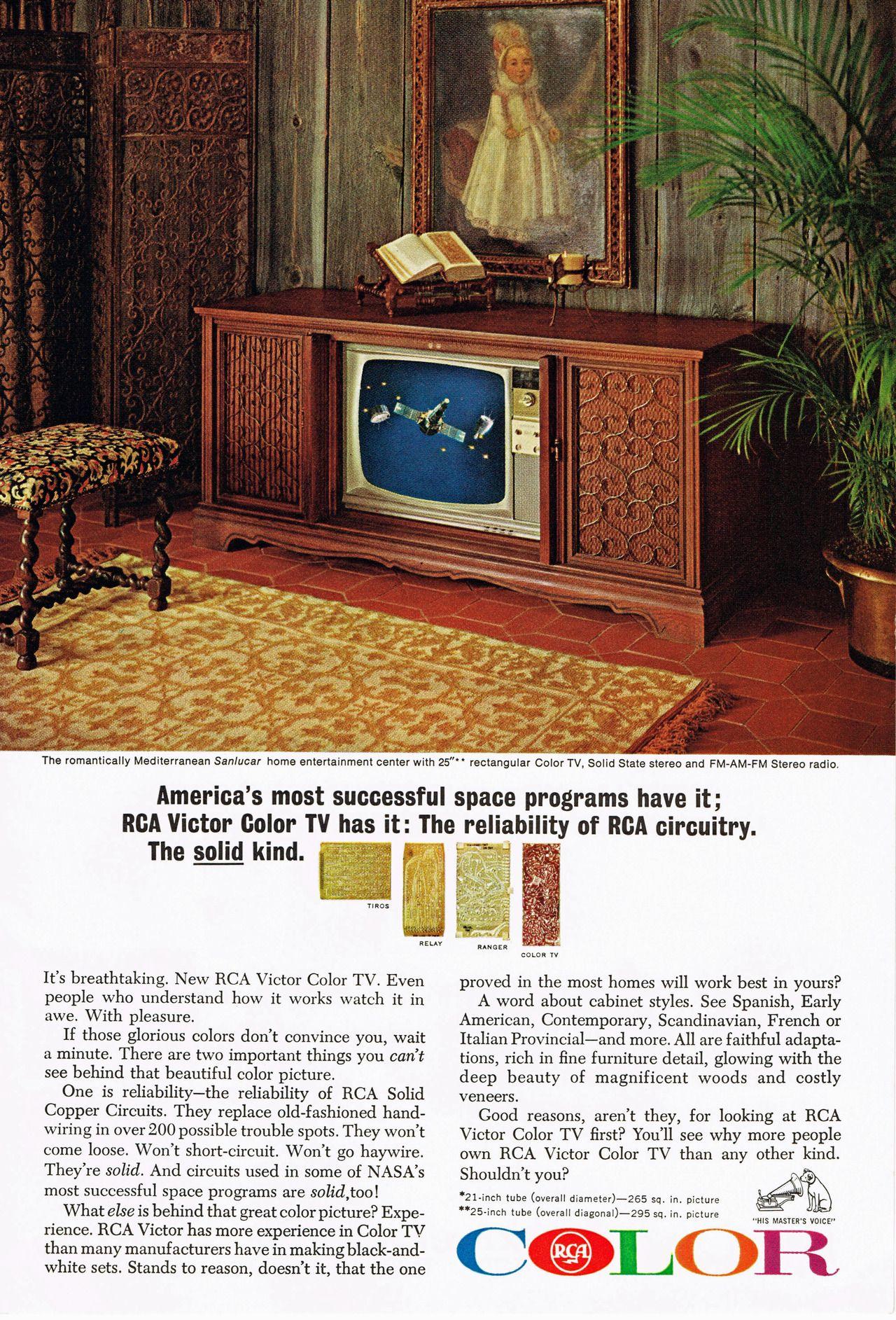 Rca Color Television 1965 Vintage Tv Ads Color Television Vintage Tv