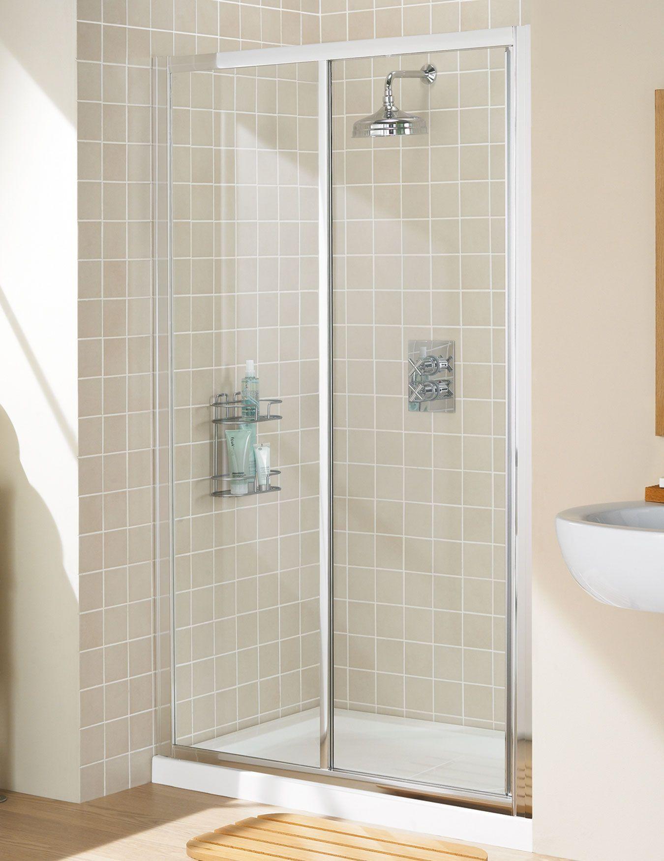 Lakes Classic Framed Slider Shower Door 1200mm Silver anidised £298