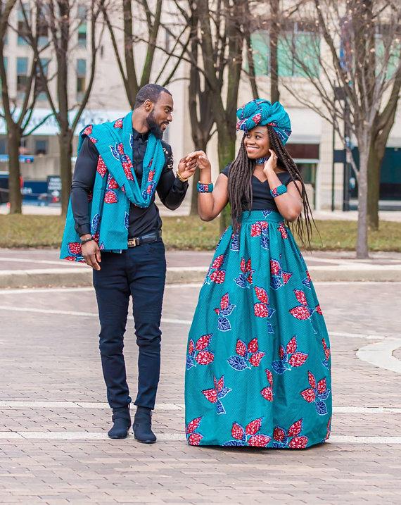 836e8a8421 3 Piece Ankara Couple Outfit