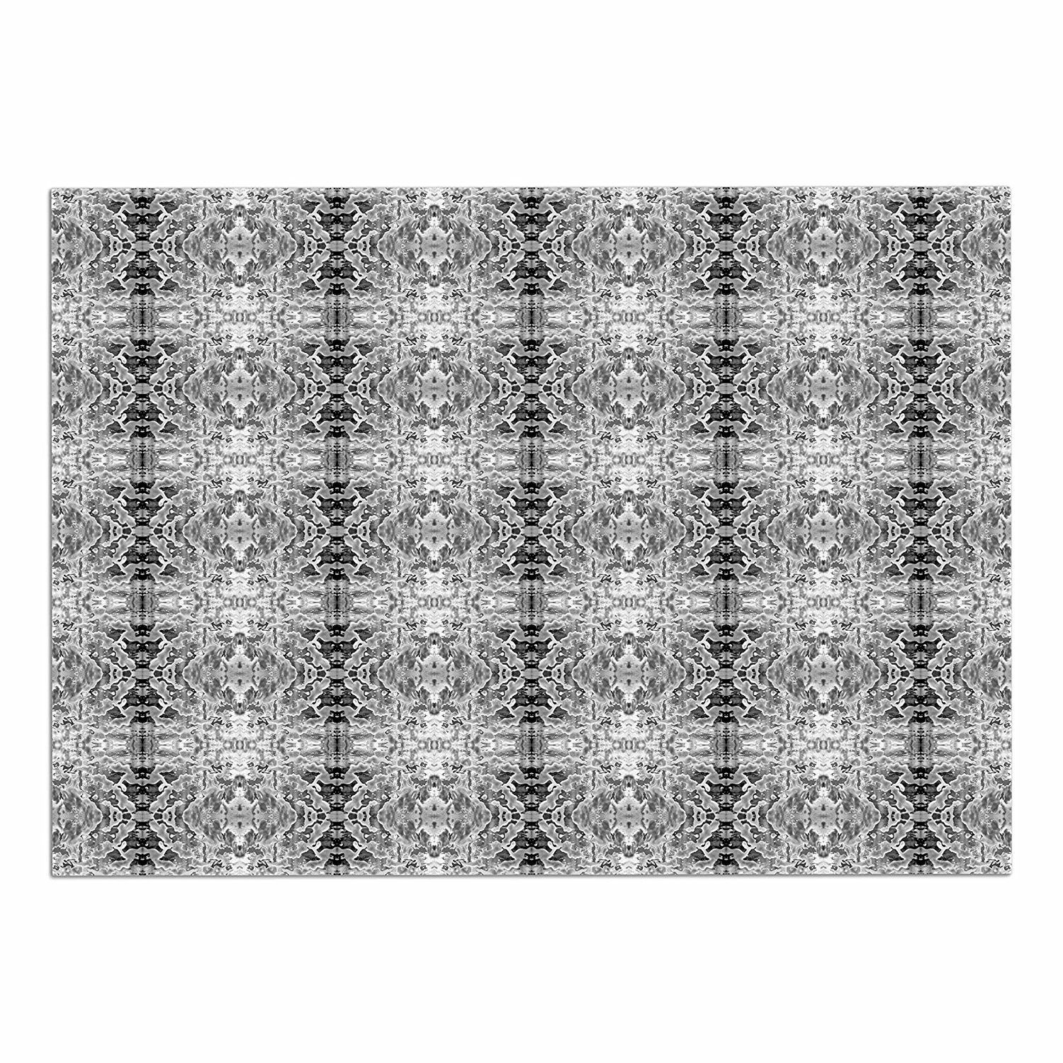 KESS InHouse Bruce Stanfield 'Rage against the Machine BW' Black White Dog Place Mat, 13' x 18' ** New and awesome product awaits you, Read it now  (This is an amazon affiliate link. I may earn commission from it)