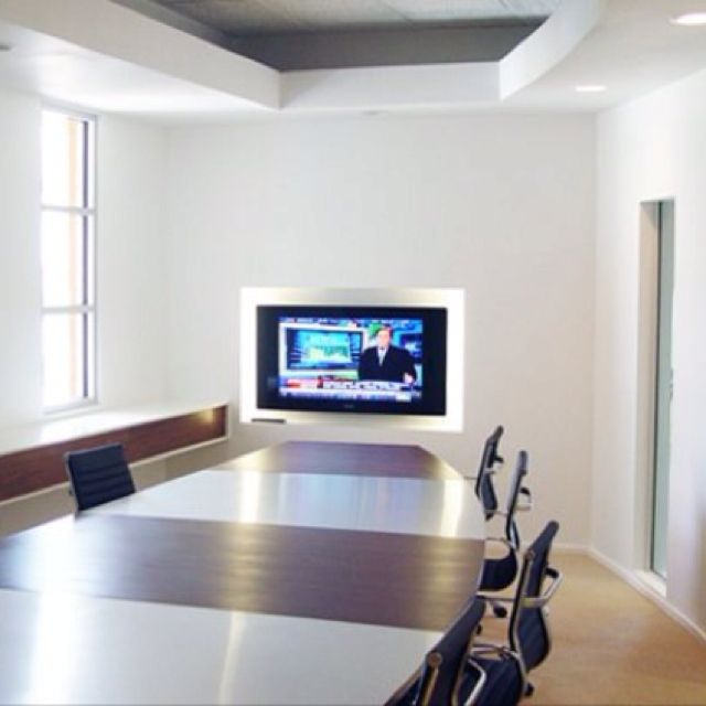 Office Interior Custom Walnut And Metal Conference Table In El Paso Texas Designed