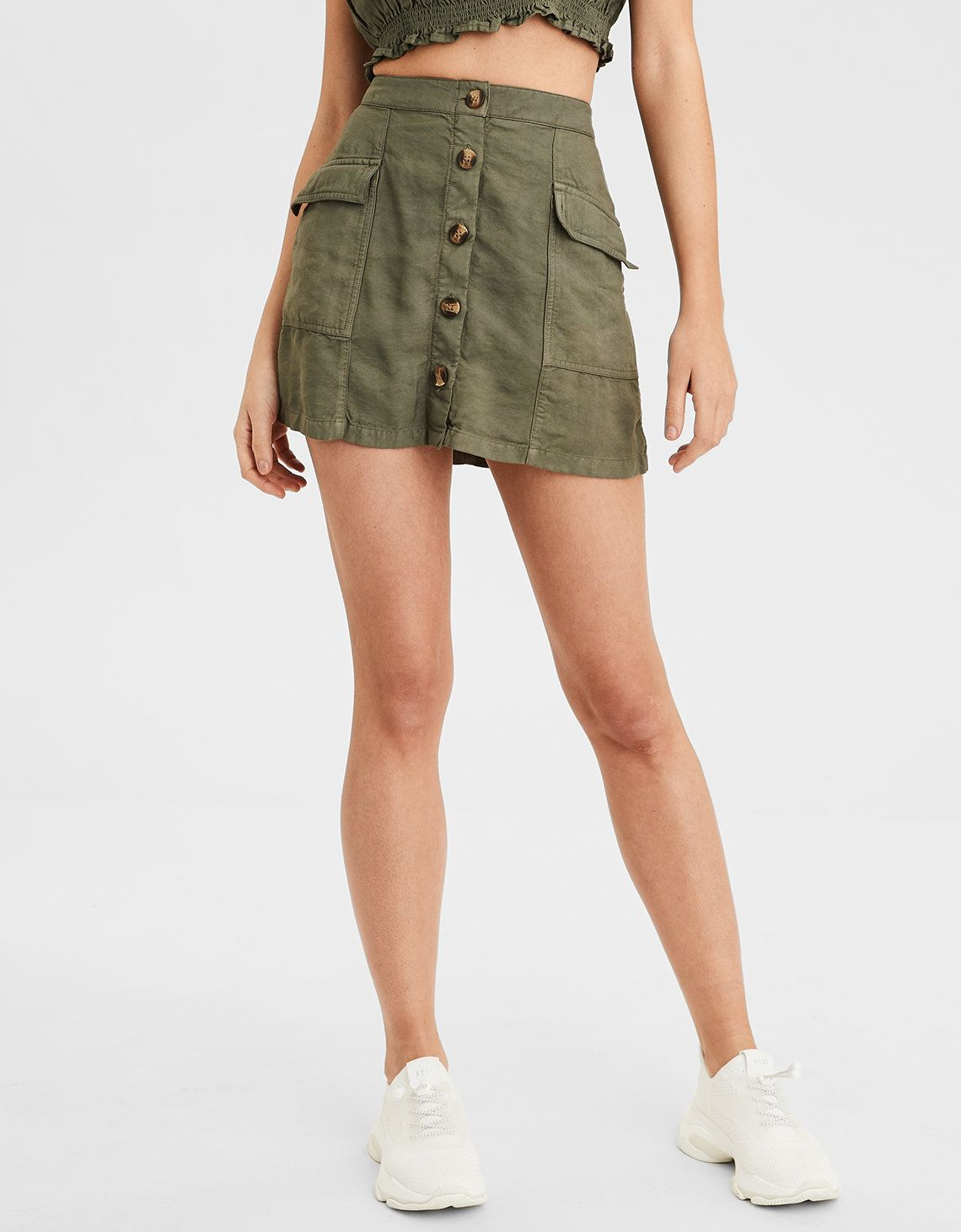 fafecbc57a2889 AE High-Waisted Utility Skirt in 2019 | Skirts | Skirts, Mens ...