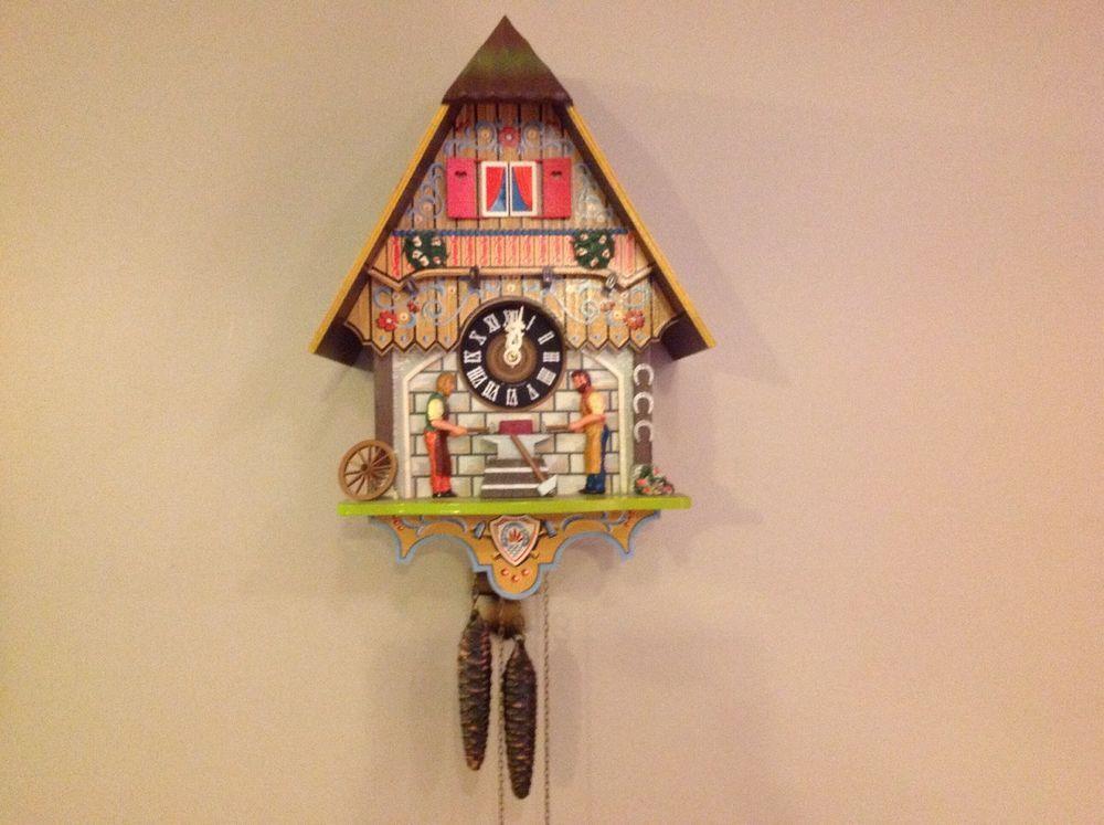 best cuckoo clocks images cuckoo clocks vintage deco west blacksmith bell ringer cuckoo clock by schmeckenbecher