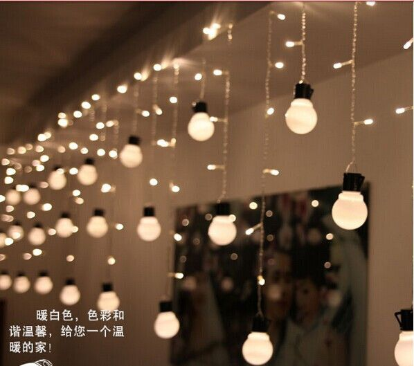Free Shipping 4m 0 65m Ice Led String Light Indoor Decoration Fairy Ac220v Eu Plug Wedding Party In From Lights Lighting On