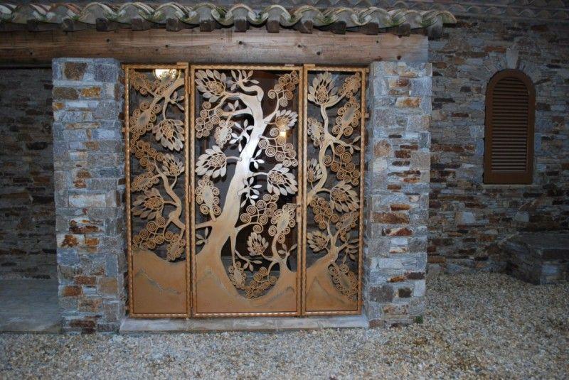 Grille arbre de vie inspir des oeuvres d 39 art d co d 39 edgar for Arbre mural en fer forge